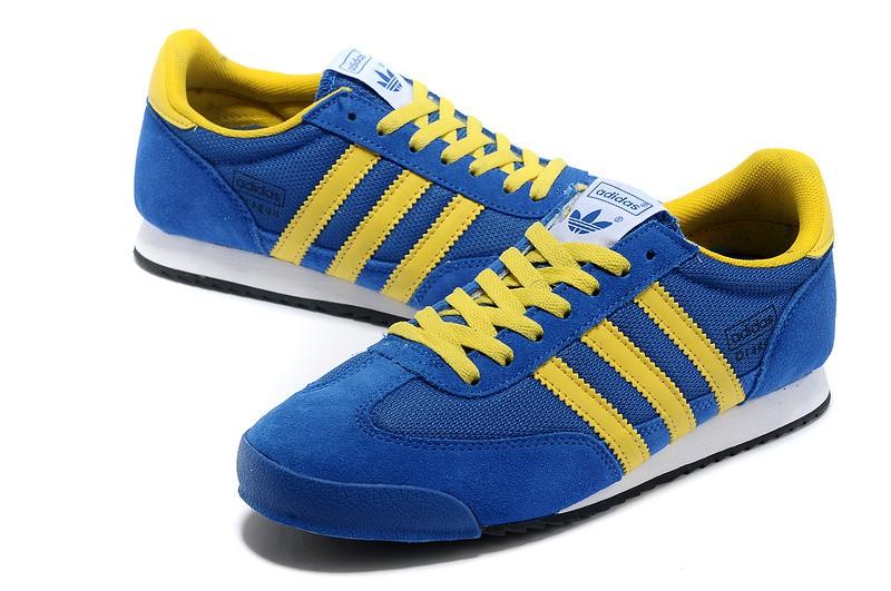 adidas dragon bleu et jaune en soldes